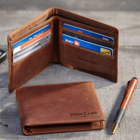 Natural Leather Wallet With Photo