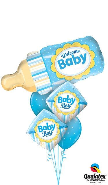 Welcome Baby Blue Bottle Shape Balloon Dubai