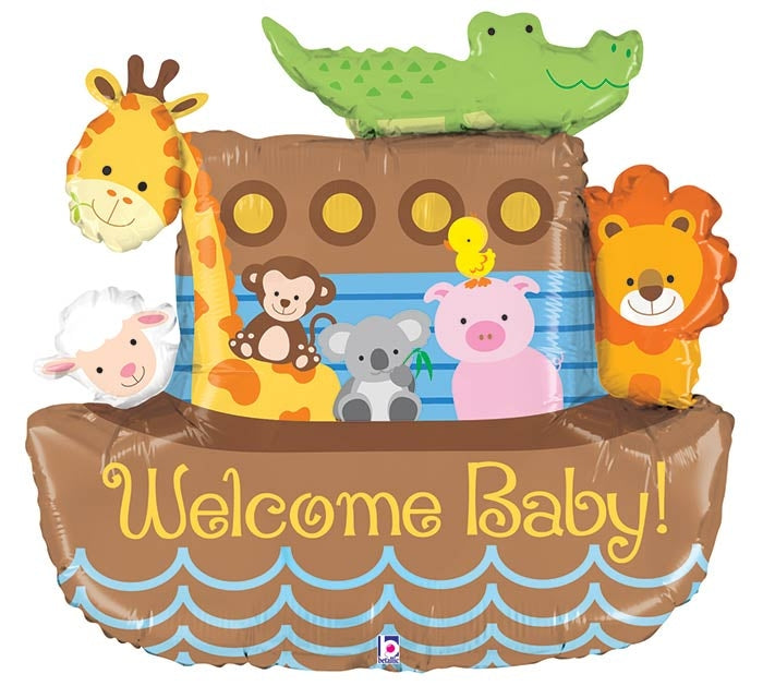 Welcome Baby Noah's Ark Shape Balloon Dubai