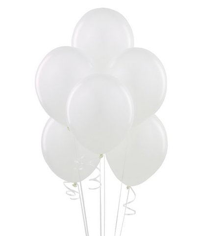 White Latex Balloons Dubai