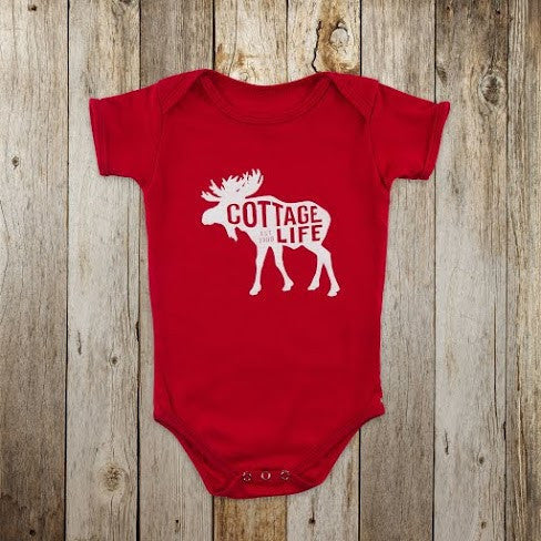 Cottage Life Moose Onesie