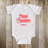 Proud to be Canadian Baby Onesie