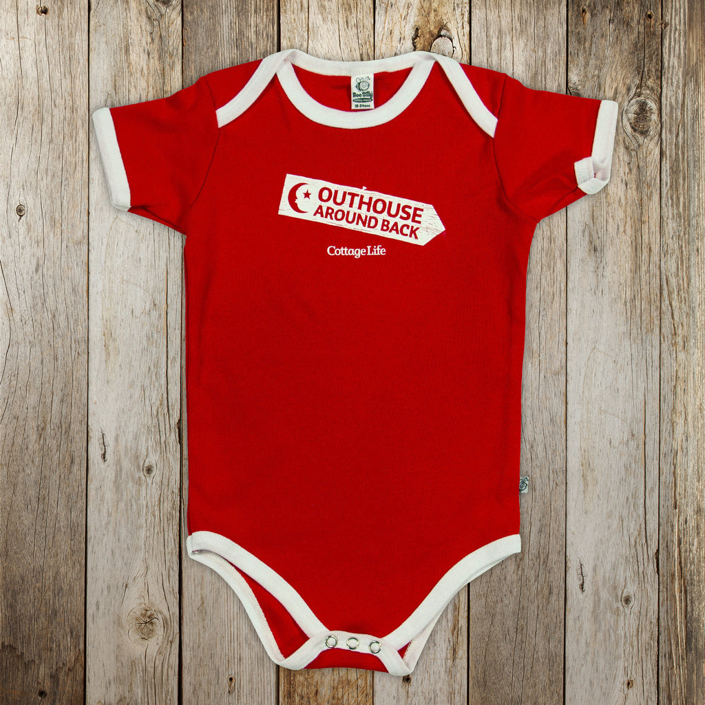 Outhouse around Back Onesie