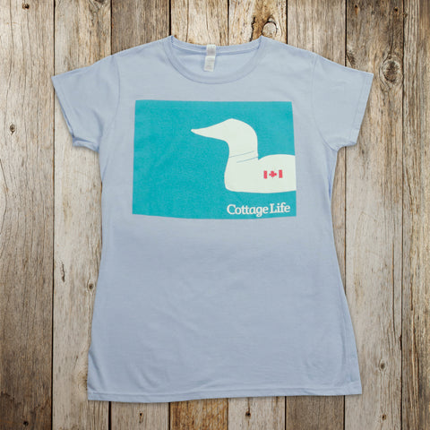 Womens Crewneck Illustrated Loon T-Shirt