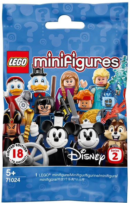 Bring exciting new play possibilities to any LEGO set with the LEGO Minifigures 71024 Disney Series 2. This new-for-May-2019 collection features a magical lineup of exclusive, Limited Edition Disney characters. Say hello to Vintage Mickey, Vintage Minnie, Hercules, Jack Skellington, Scrooge McDuck, Huey, Dewey, Louie, Chip, Dale, Jasmine, Jafar, Hades, Elsa, Anna, Sally, Edna and Frozone!