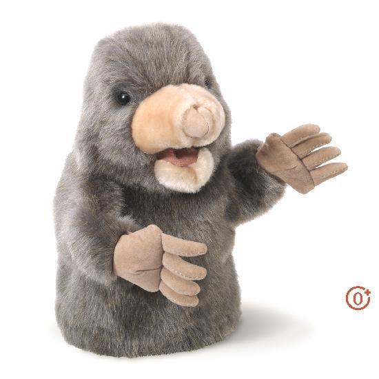 The Folkmanis® Little Mole puppet is a welcome friend in any garden play scene. This cute critter is unmistakable with a large snout, movable mouth and claws for digging.