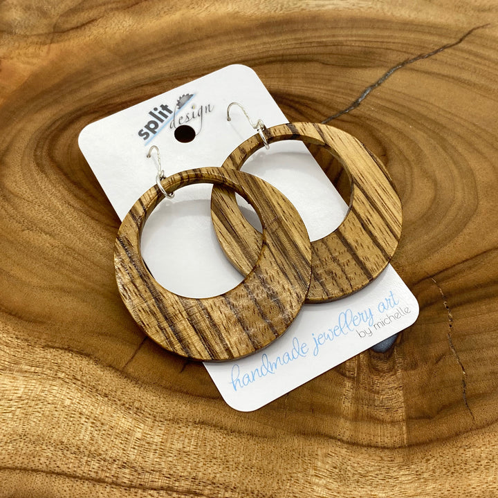 Timber & Resin Earrings | Split Design Coffs Harbour