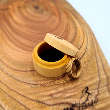 Handcrafted Zebrano Ring - Size N