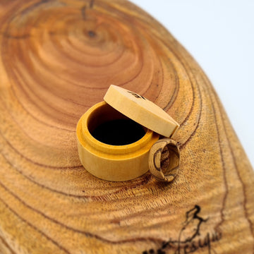 Handcrafted Zebrano Ring - Size L