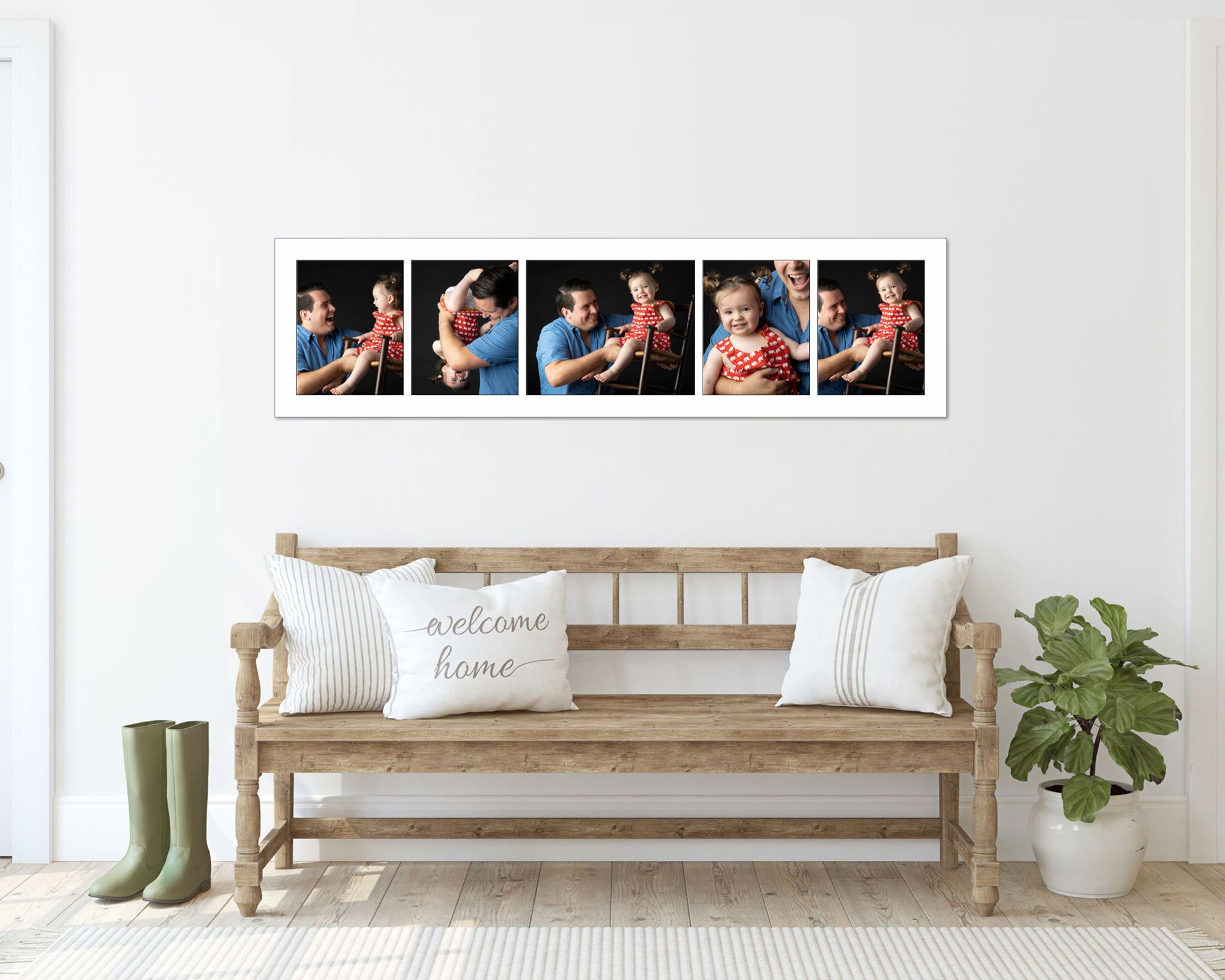 horizontal_collection_of_portraits_of_pretty_girl_in_red_dress_above_a_bench.jpg