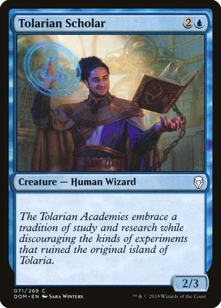 Tolarian Scholar [Dominaria] | Goblets and Goblins