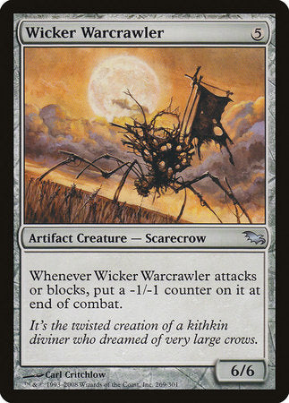 Wicker Warcrawler [Shadowmoor] | Goblets and Goblins