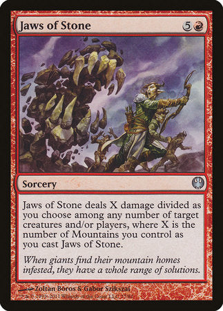 Jaws of Stone [Duel Decks: Knights vs. Dragons] | Goblets and Goblins