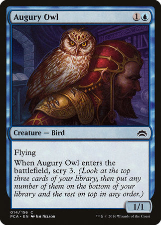 Augury Owl [Planechase Anthology] | Goblets and Goblins