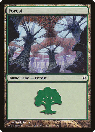 Forest (175) [New Phyrexia] | Goblets and Goblins