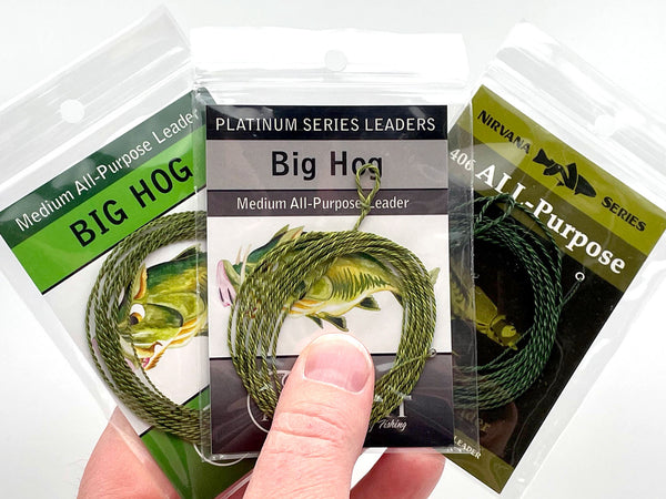 Great furled fly leaders for fishing nymphs, large bulky dries, and hopper dropper set ups