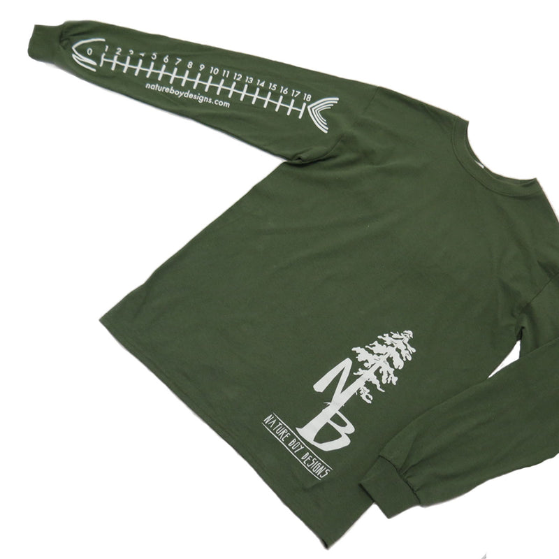 "Nature Boy Designs, ""SIZE MATTERS"", Military Green (Last one Size S)"