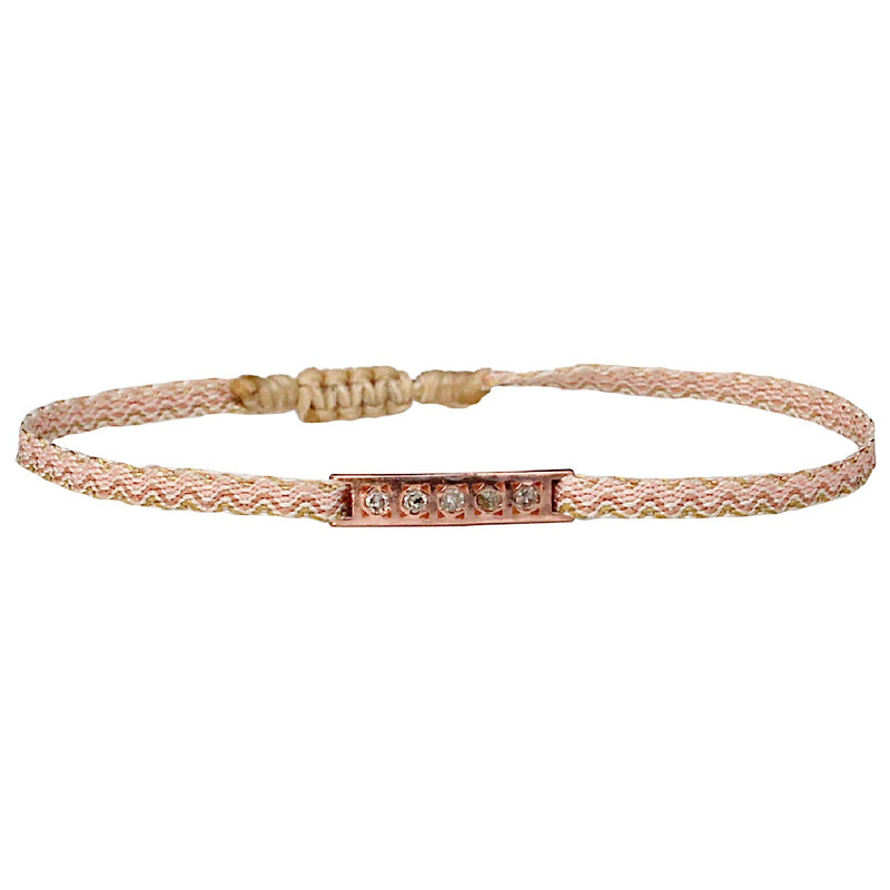 DIAMOND BAR BRACELET IN BEIGE TONES