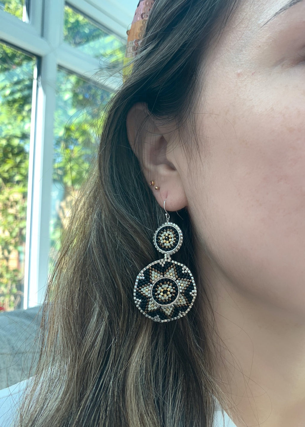 WINTER EARRINGS IN NEUTRAL COLORS
