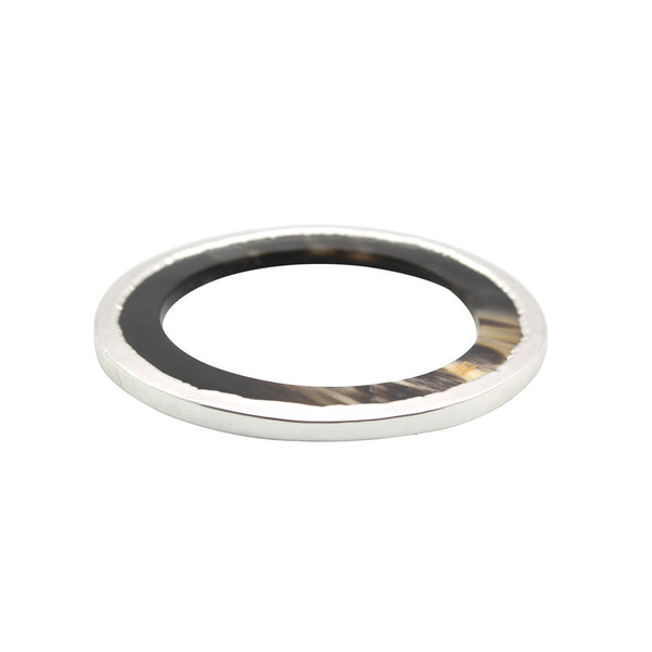 Adelie Horn Silver-Plated Stackable Bangle