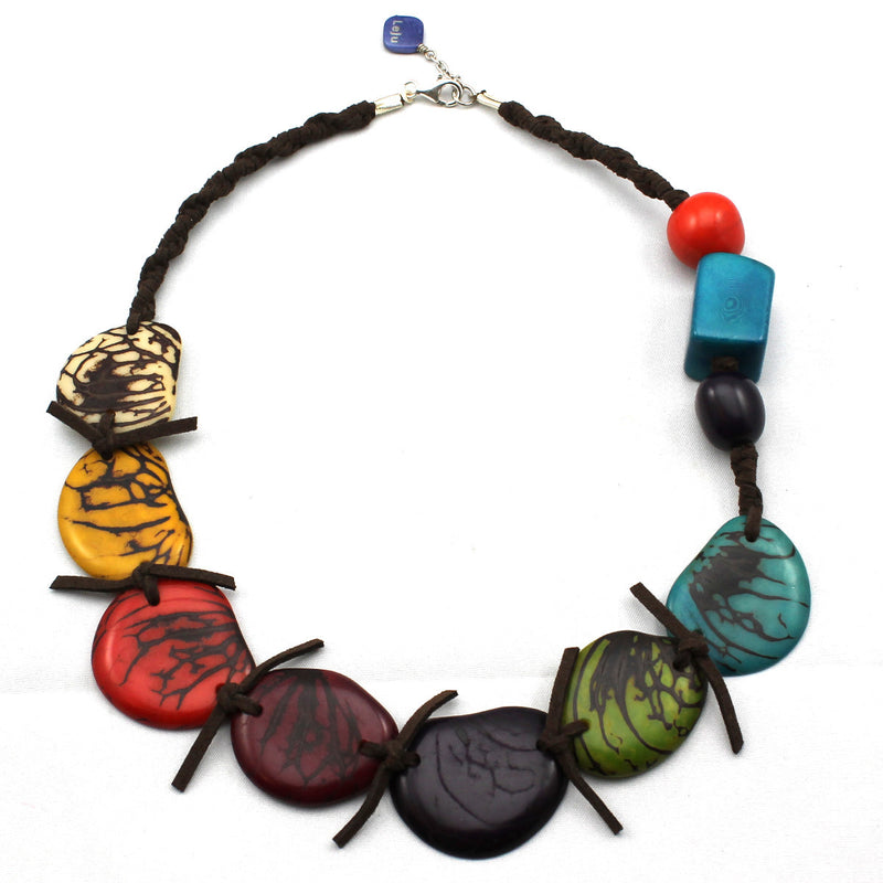 Multicolor Statement Vegetable Ivory Necklace
