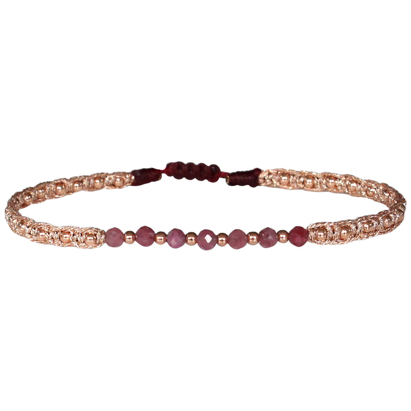 MAR BRACELET IN ROSE GOLD & PINK