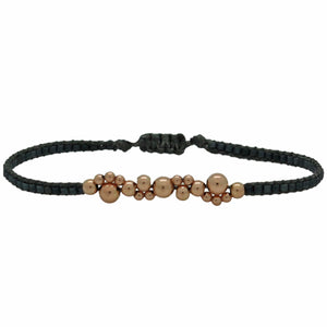 ROSE GOLD BUBBLE BRACELET IN DARK GREY