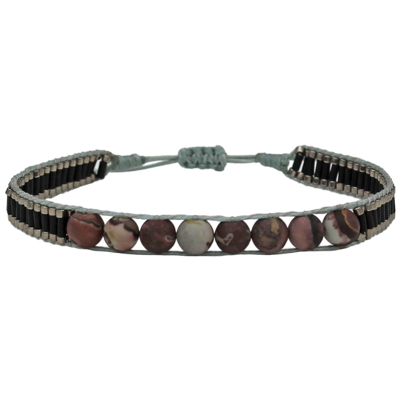 BOTSWANA AGATE SINGLE MEN BRACELET