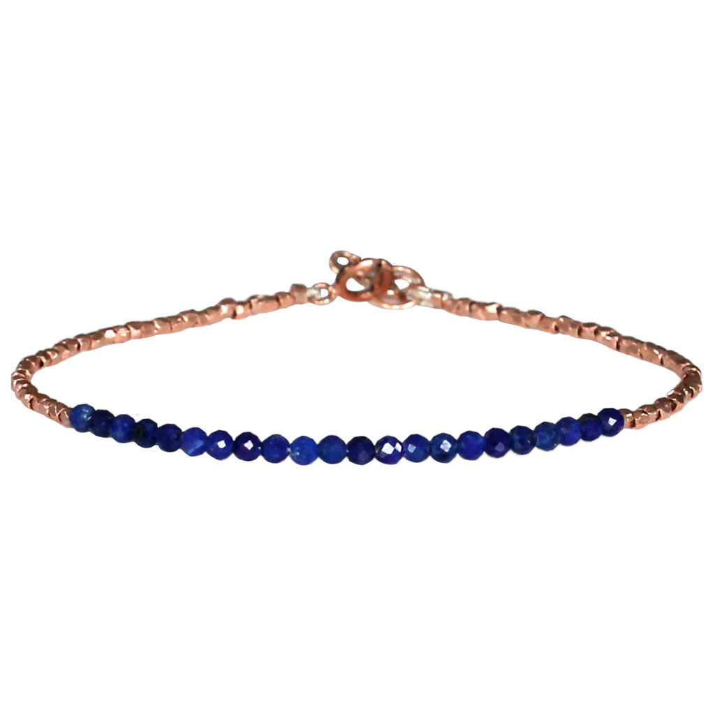 LUXURY GEM BRACELET IN ROSE GOLD & LAPIS LAZULI