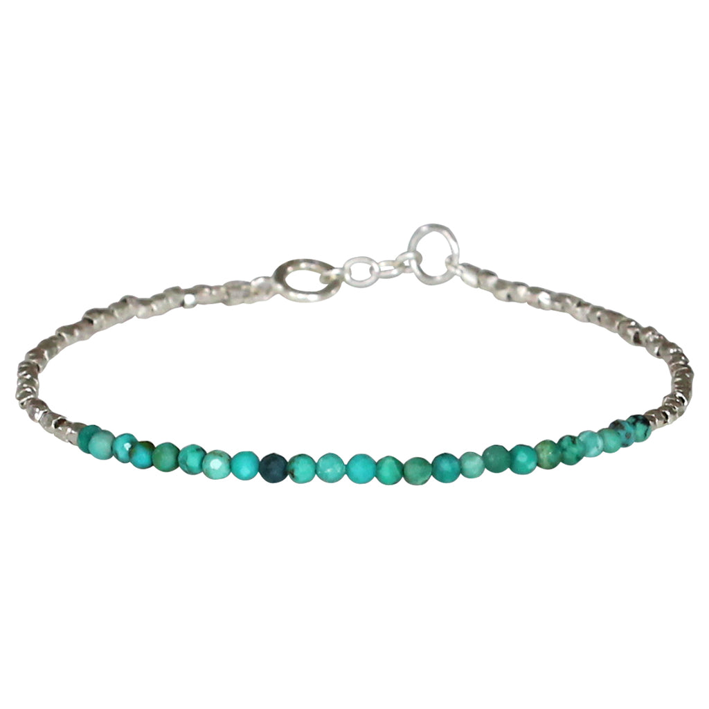 LUXURY GEM BRACELET IN TURQUOISE & SILVER