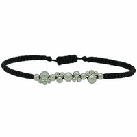 SILVER BUBBLE BRACELET IN BLACK