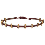 BAR BRACELET IN BURGUNDY & GOLD