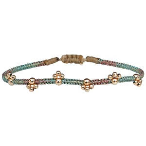 BLOOM BRACELET IN SOFT PASTEL TONES & 14K GOLD FILLED BEADS