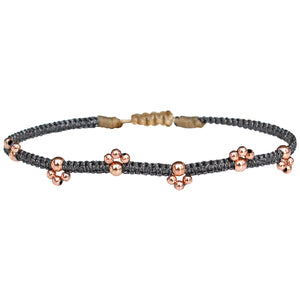 BLOOM BRACELET IN DARK GREY & ROSE GOLD