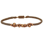 ROSE GOLD BUBBLE BRACELET WITH SHINNY GOLD THREADS