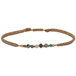 GYPSY BRACELET IN ROSE GOLD & INTERMIXED SEMI-PRECIOUS STONES