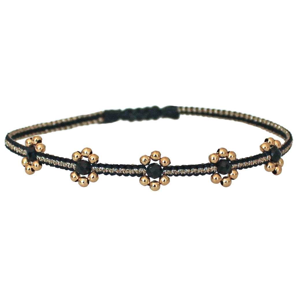 LILAC BRACELET IN BLACK & GOLD