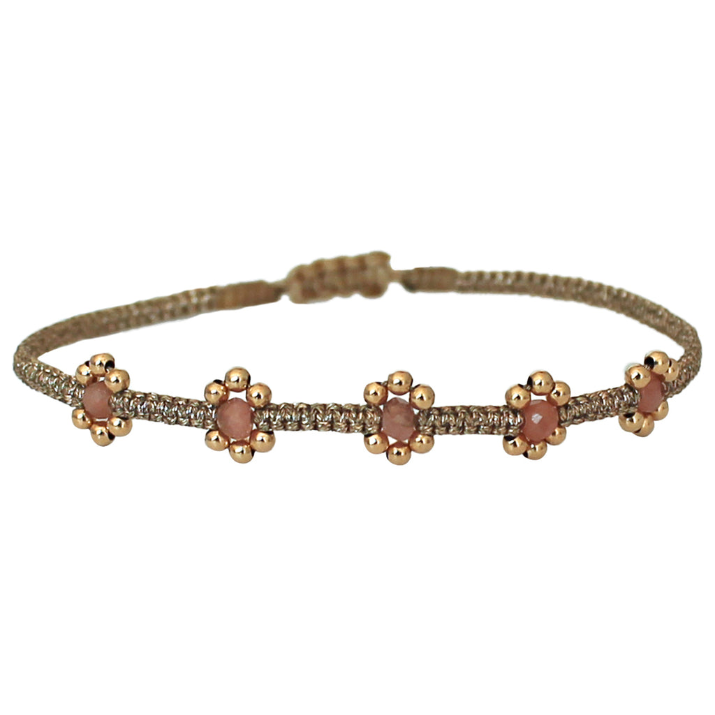 LILAC BRACELET IN SOFT PINK & GOLD