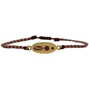 LUXURY MILA BRACELET WITH GOLD, GARNET AND RUBY