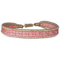 BT BEADS BRACELET IN BRIGHT PINK TONES
