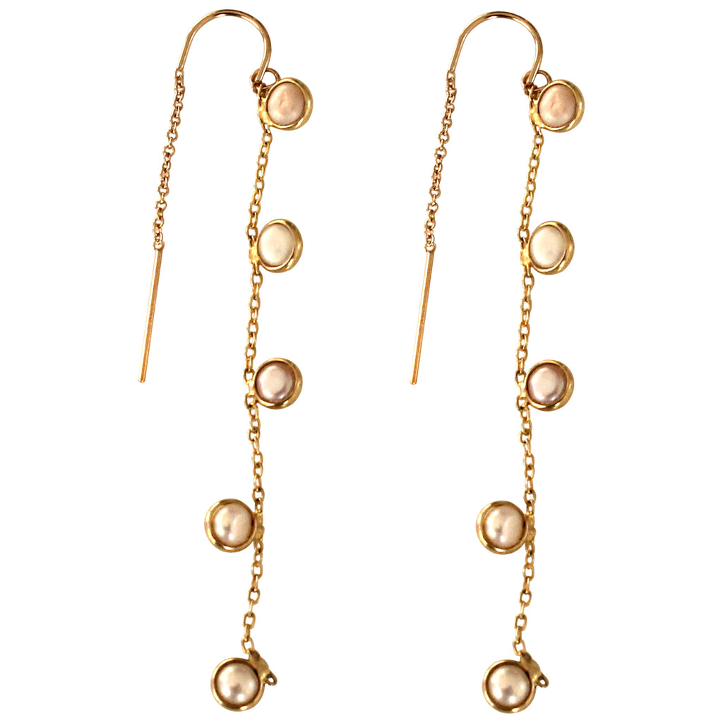 GOLD PEARLS EARRINGS