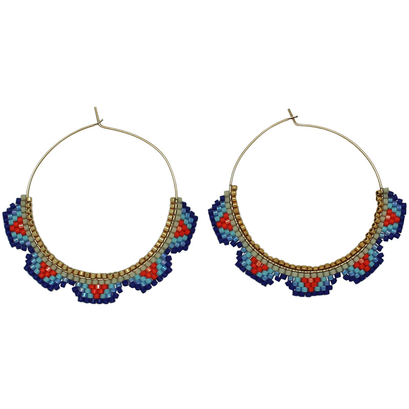HOOP EARRINGS IN BRIGHT COLOURS