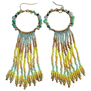 WATERFALL EARRINGS IN VIBRANT TONES