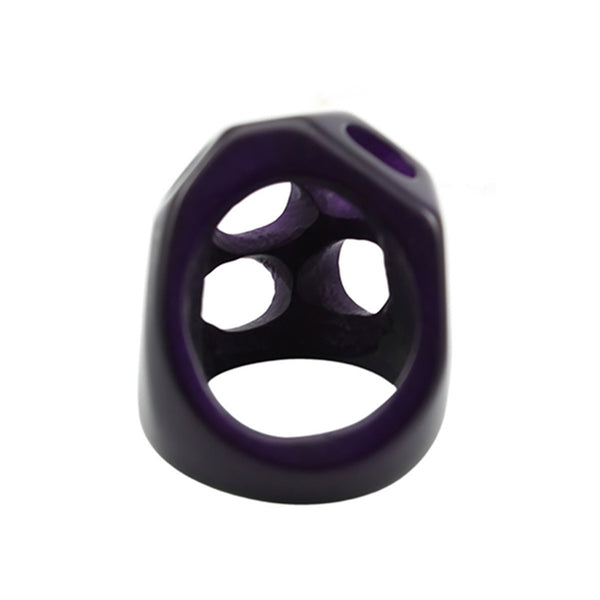 Statement Vegetable Ivory Ring in Purple