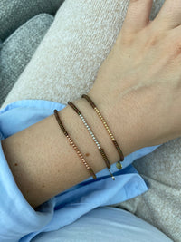 PETITE BRACELET IN MATE OLIVE GREEN & ROSE GOLD