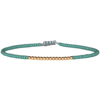 PETITE BRACELET IN TURQUOISE AND 14K GOLD FILLED