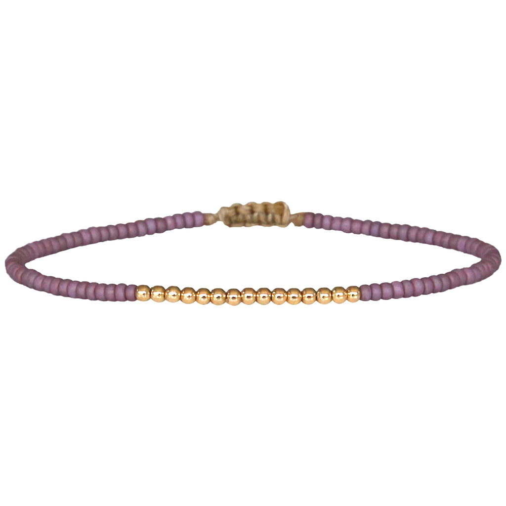 PETITE ROSE BRACELET WITH 14K GOLD FILLED DETAILS