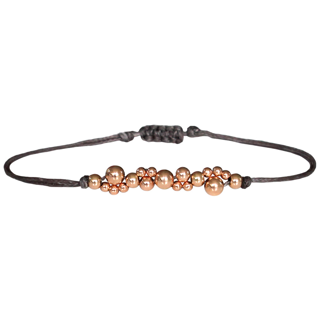 BUBBLE HILO BRACELET IN GREY AND ROSE GOLD
