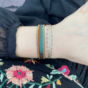 BT BRACELET IN COPPER & AQUAMARINE TONES