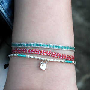 KIDS SET OF TWO BRACELETS IN BLUE & SILVER TONES